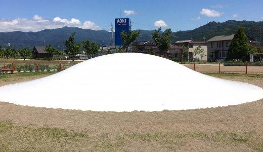 【篠ノ井中央公園@長野市】フラワーガーデンとふわふわドーム~/子連れブログ