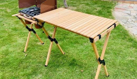 【開封・組立】フィールドアの木製ウッドロールキッチンテーブルを買ってみた!/初心者子連れキャンパーブログ